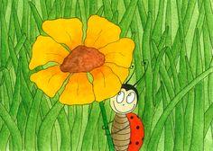 Ladybird - Watercolour (sold) by Sandra Herrgott