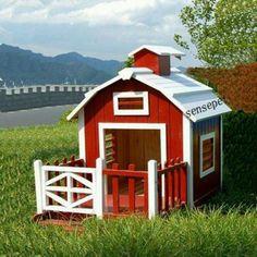 Dog house red barn.