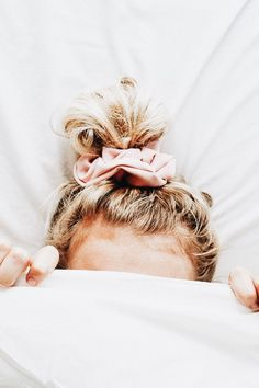Dainty, feminine, and chic all in one scrunchie. - A & C Glamour Salon - Scrunchies Balayage Blond, Blonde Hair, Face Shape Hairstyles, Braided Hairstyles, Scrunchy Hairstyles, Feathered Hairstyles, Pretty Hairstyles, Long Curly Hair, Curly Hair Styles
