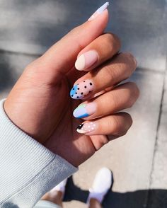 Spring Nail Inspo 2020 Best Picture For Spring Nails chrome For Your Taste You are looking for. Cute Acrylic Nails, Cute Nails, Pretty Nails, Pastel Nails, Minimalist Nails, Hair And Nails, My Nails, Nail Design Glitter, Nail Selection