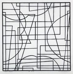 "Danish-born artist Leif Kath (b. 1945) ""# 337"", 2012. Linocut, 30 x 30 cm. art kunst #danskkunst danishart contemporaryart"