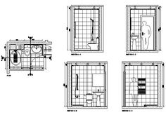 Handicapped Shower Stall - 2D CAD Symbols Library - CAD ...