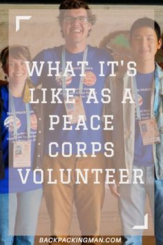 What It's Like As A Peace Corps Volunteer
