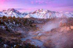 Eastern Sierra Nevada and Hot Creek at sunrise CA   [1400935] by Daniel #reddit