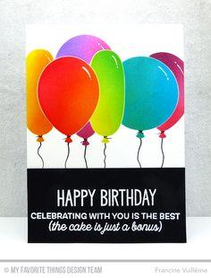 Big Birthday Sentiments Stamp Set, Big Birthday Balloons Die-namics - Francine Vuillème  #mftstamps