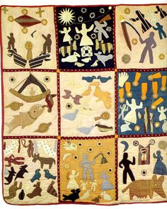 Detail of second Bible Quilt by Harriet Powers  (Athens, Georgia, ca. 1886)