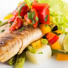 Changes in seasons can result in a type of depression called seasonal affective disorder (SAD). Susceptible individuals suffer from SAD at… Tilapia, Seafood Recipes, Cooking Recipes, Parmesan, White Fish Recipes, Fatty Fish, Roasted Red Peppers, Filets, Caramelized Onions