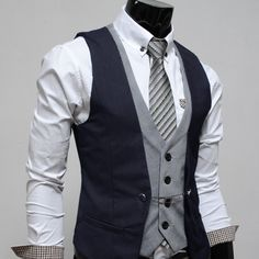 vest layering...a little too much but i like the top vest since it's way different.