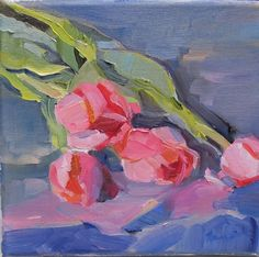 Affordable Original painting 'Tulip' by Linda Hunt by LindaHunt, $135.00