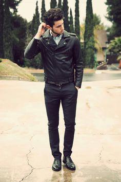 Man style | all black | love