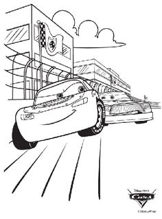 Disney Cars 3 Jackson Storm Coloring Page | Printable Coloring Pages ...