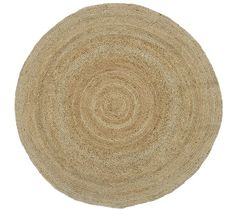 Round Jute Rug - Natural | Pottery Barn * jute would be nice layered with sheep skin on top!
