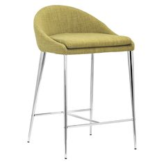 "Zuo 24.4"" Counter Stool - Green (Set of 2)"