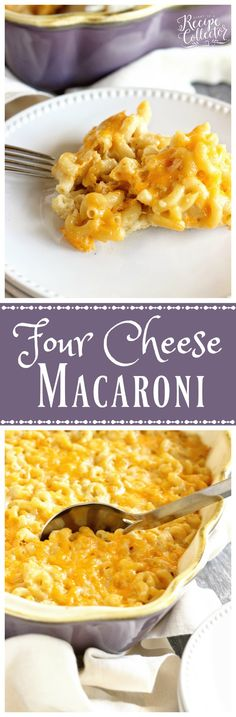Four Cheese Macaroni - A delicious recipe for homemade macaroni filled with…