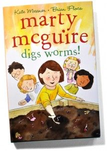 A review of Marty McGuire Digs Worms! by Kate Messner and Brian Floca.