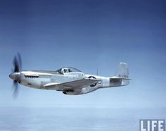 North American Aviation P-51D-5-NA 44-13366 on a test flight near the North American plant at Inglewood, California. 44-13366 was an often-photographed Mustang. It was flown by 1st Lieutenant Ward H. Douglass, 358th Fighter Squadron, 355th Fighter Group, at Station 122, RAF Steeple Morden, England. It carried the identification letters YF K. (LIFE Magazine)