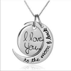 I love you necklace Brand new. Never worn. Ships same or next business day Jewelry Necklaces