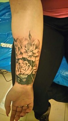 Lily tattoo cover