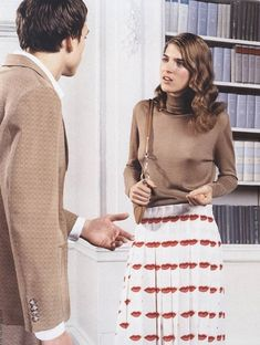 Wishing for this lip print Prada skirt