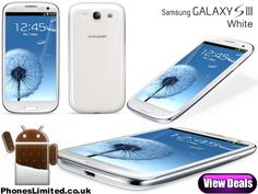 White Samsung Galaxy S3 Deals - http://www.phoneslimited.co.uk/Samsung/Galaxy+S3+White.html