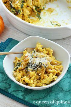 Pumpkin & Chicken Baked Pasta | Gluten-Free | Queen of Quinoa