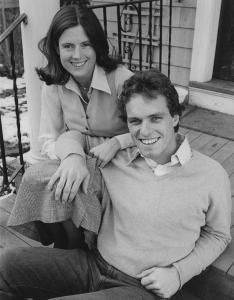 Joseph P. Kennedy II, the oldest son of the late Robert Kennedy announced on December his engagement to Sheila Brewster Rauch of Philadelphia. Both are shown outside Kennedy's home in Boston's Brighton section on December (UPI Photo/ps/Files) Joseph P Kennedy Ii, Los Kennedy, Robert Kennedy, Familia Kennedy, News Quotes, Drawing Quotes, Photo Quotes, Jfk, Guys