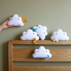 Petits doudous en forme de nuages - Clouds Toys for kids