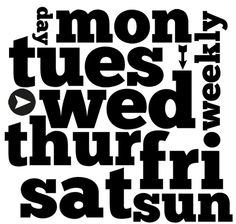 project life printables | Project Life Printable Freebies / Days of the Week Printable Word Art ...