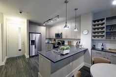 Gray cabinets and co