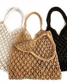 Macrame Purse, Crochet Market Bag, Boho Bags, Macrame Design, Macrame Patterns, Shopper Bag, Knitted Bags, Handmade Bags, Crochet Clothes
