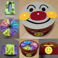 ティッシュの空き箱で簡単にラウンド椅子が作れます♪ 子供が大好きな丸顔キャラクターにピッタリなのでとってもお勧めです☆ Diy Crafts Videos, Diy And Crafts, Crafts For Kids, Diy Painting, Kids Toys, Coasters, Birthday, Handmade, Instagram