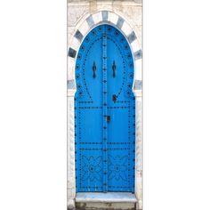 Sticker de porte trompe l'oeil déco porte orientale.