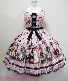 Princess Cat Tiered JSK (Pink) - Angelic Pretty