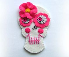 Sugar Skull Felt Skulls Decoration Garland. $30.00, via Etsy.