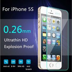 Ultra Thin Premium Tempered Glass Screen Protector For iPhone 5 HD Toughened Protective Film + Cleaning Kit Iphone 7 Plus, Iphone 5se, Apple Iphone, Phone Screen Protector, Tempered Glass Screen Protector, Mobile Accessories, Iphone Accessories, Hanging Mugs, Glass Film