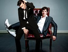 Matt Smith and Benedict Cumberbatch...I'll just be taking my seat right there! Yeah...that seems right...