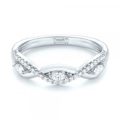 custom organic diamond wedding band joseph jewelry bellevue seattle online design