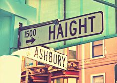 The famous intersection where Ashbury meets the Haight.