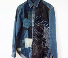 Handmade shirt Boro sashiko
