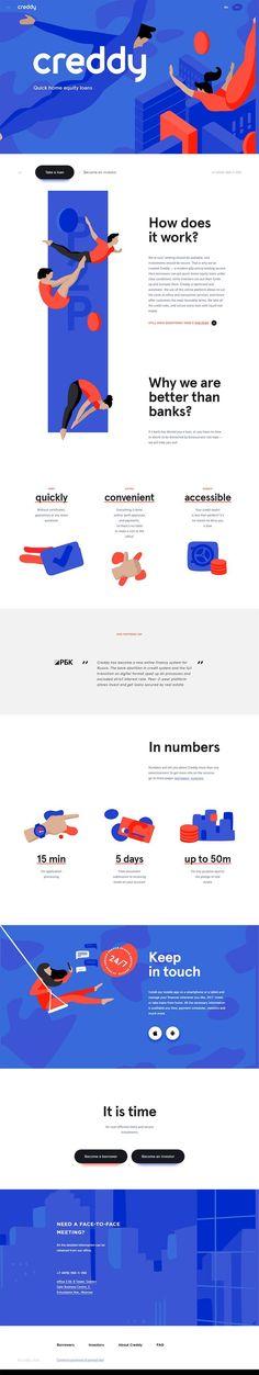 Creddy landing page design inspiration - Lapa Ninja Site Web Design, Web Ui Design, Dashboard Design, Design Websites, Flat Design, Graphic Design, Interface Web, Interface Design, Web Layout