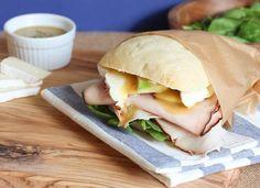 Turkey, Brie and Honey Mustard Tarragon Sandwich