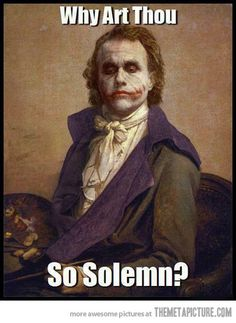 Vintage 'Why so serious?'
