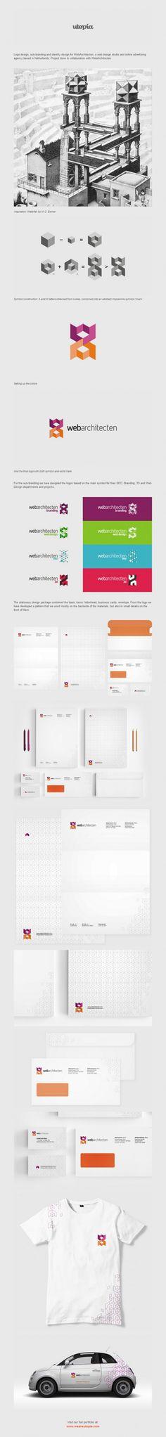 Web Architecten logo and corporate identity design by Utopia Branding Agency