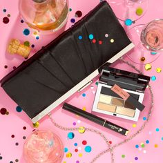 Pop up the glam! Keep easy beauty items in your party clutch.