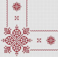 This Pin was discovered by Mih Xmas Cross Stitch, Beaded Cross Stitch, Cross Stitch Borders, Cross Stitch Designs, Cross Stitch Patterns, Christmas Embroidery Patterns, Folk Embroidery, Hand Embroidery Patterns, Cross Stitch Embroidery