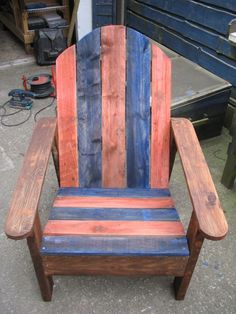 Adirondack Chair Made From Two Pallets