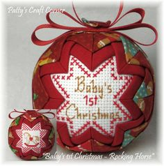 """Baby's 1st Christmas"" ornament - Visit www.etsy.com/shop/pattyscraftcorner to view a variety of handmade ornaments"