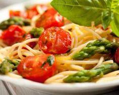 Spaghettis asperges et tomates