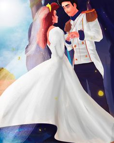 D A Y 10: Marriage by fireviixen.deviantart.com on @DeviantArt Disney Princess Art, Disney Fan Art, Disney Love, Princes Ariel, Disney Princesses, Deviantart Cosplay, Royal Marriage, Literary Characters, Disney Wedding Dresses