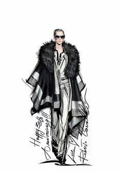 Original Alexander McQueen Fashion Sketches